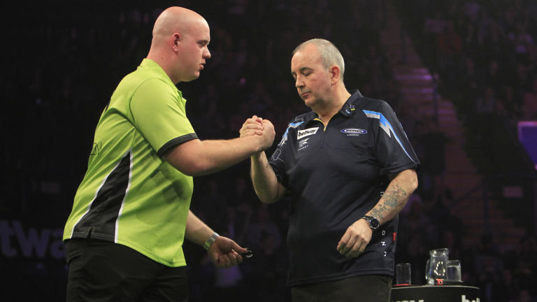 Michael van Gerwen a Phil Taylor Premier League