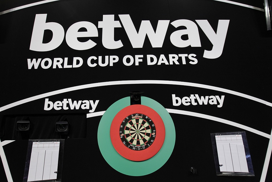 Pódium na World Cup of Darts