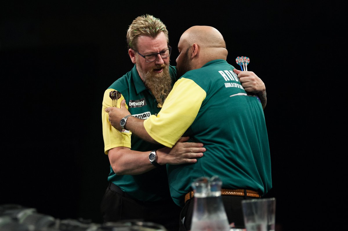 Kyle Anderson a Simon Whitlock na World Cup of Darts