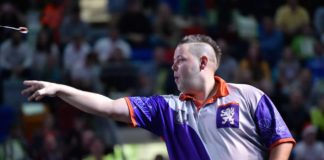 Pavel Jirkal na exhibícií Rebel Prague Darts Masters