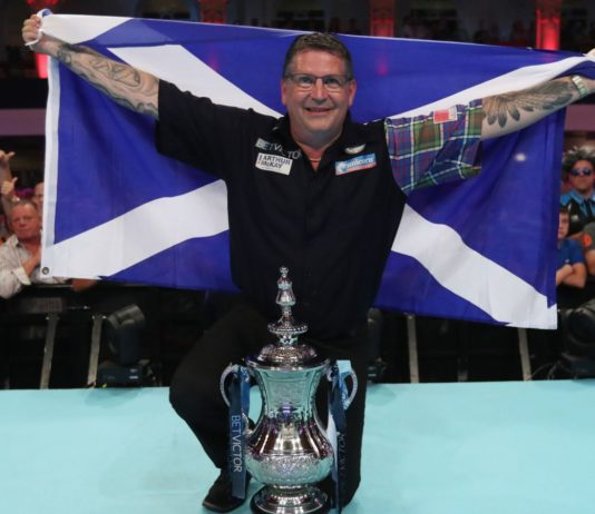 Gary Anderson, víťaz World Matchplay 2018